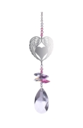 Crystal Fantasy Angel Wing Heart - Rose