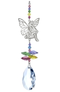 Crystal Fantasies Sitting Fairy - Confetti