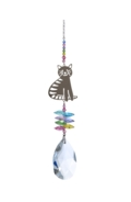 Large Crystal Fantasies Sitting Cat - Confetti