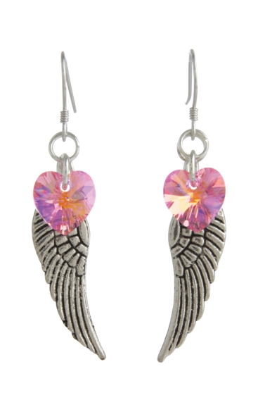 Angel Wing Earrings Rose