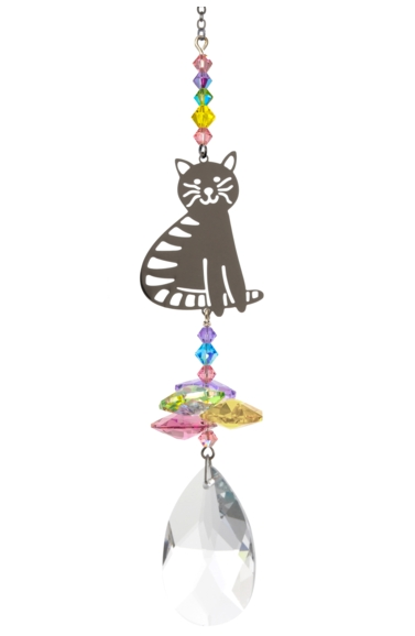 Crystal Fantasies Sitting Cat - Confetti