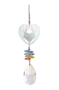 Large Crystal Fantasies Angel Wing Heart - Confetti