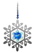 Pure Radiance Large Snowflake - Royal Blue