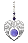 Birthstone Angel Wing Heart Amethyst