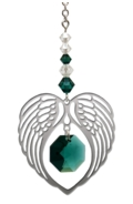Birthstone Angel Wing Heart Emerald