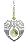Birthstone Angel Wing Heart Peridot