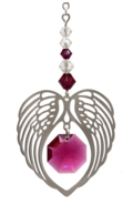 Birthstone Angel Wing Heart Ruby