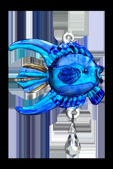Fantasy Glass Fish Sapphire
