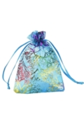 Organza Bags Blue Medium 9cm x 12cm