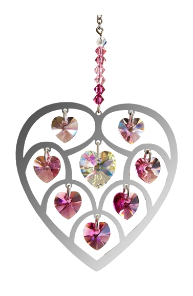 Pure Radiance Large Heart of Hearts - Deep Rose