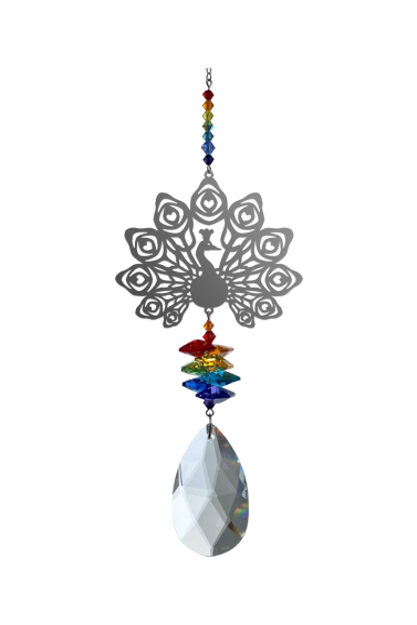 Large Crystal Fantasies Peacock - Prismatic