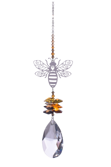 Large Crystal Fantasies Bee - Autumn Gold